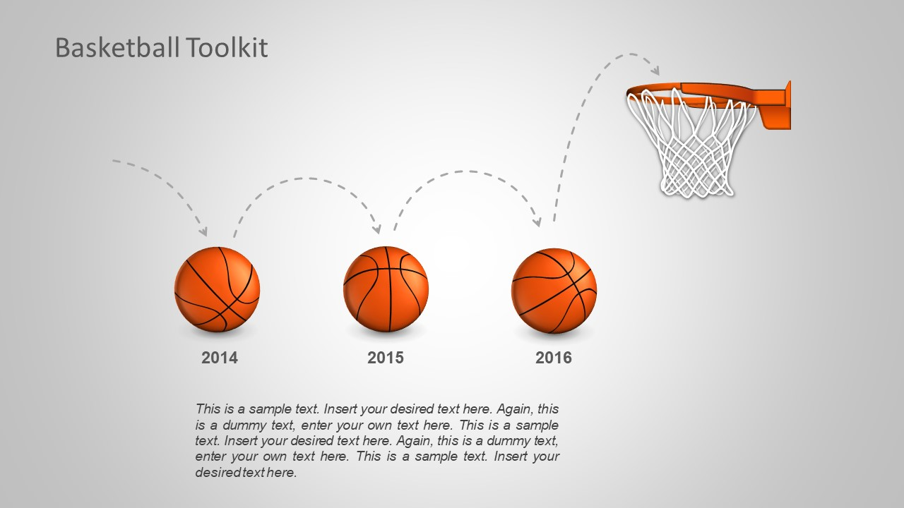 Sports Timeline Template of Basketball