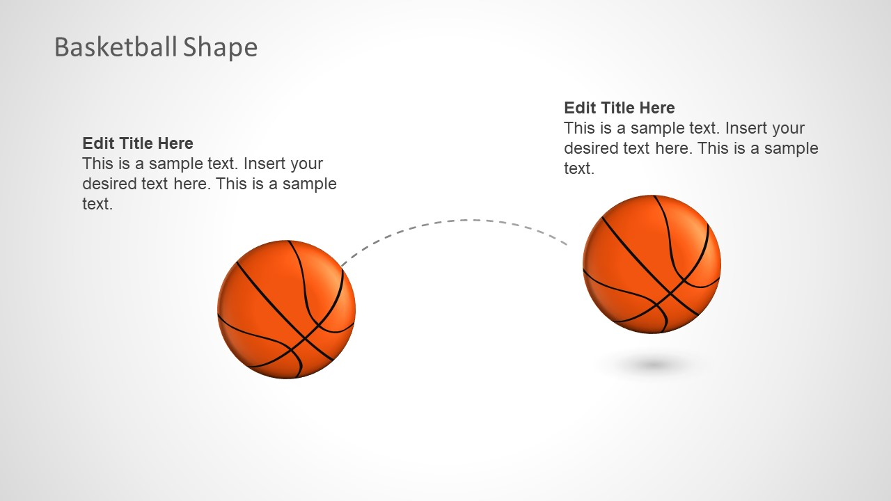 Template Depicting Basketball Bounce
