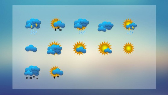 Weather powerpoint templates weather dashboard with weather icons for powerpoint toneelgroepblik Choice Image