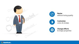 Editable PowerPoint Cartoon Illustration