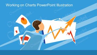 PowerPoint Man Presenting Chart Illustration