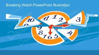 Clock Metaphor Illustration Scene