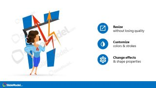 PowerPoint Layout of Woman Demonstrating Chart