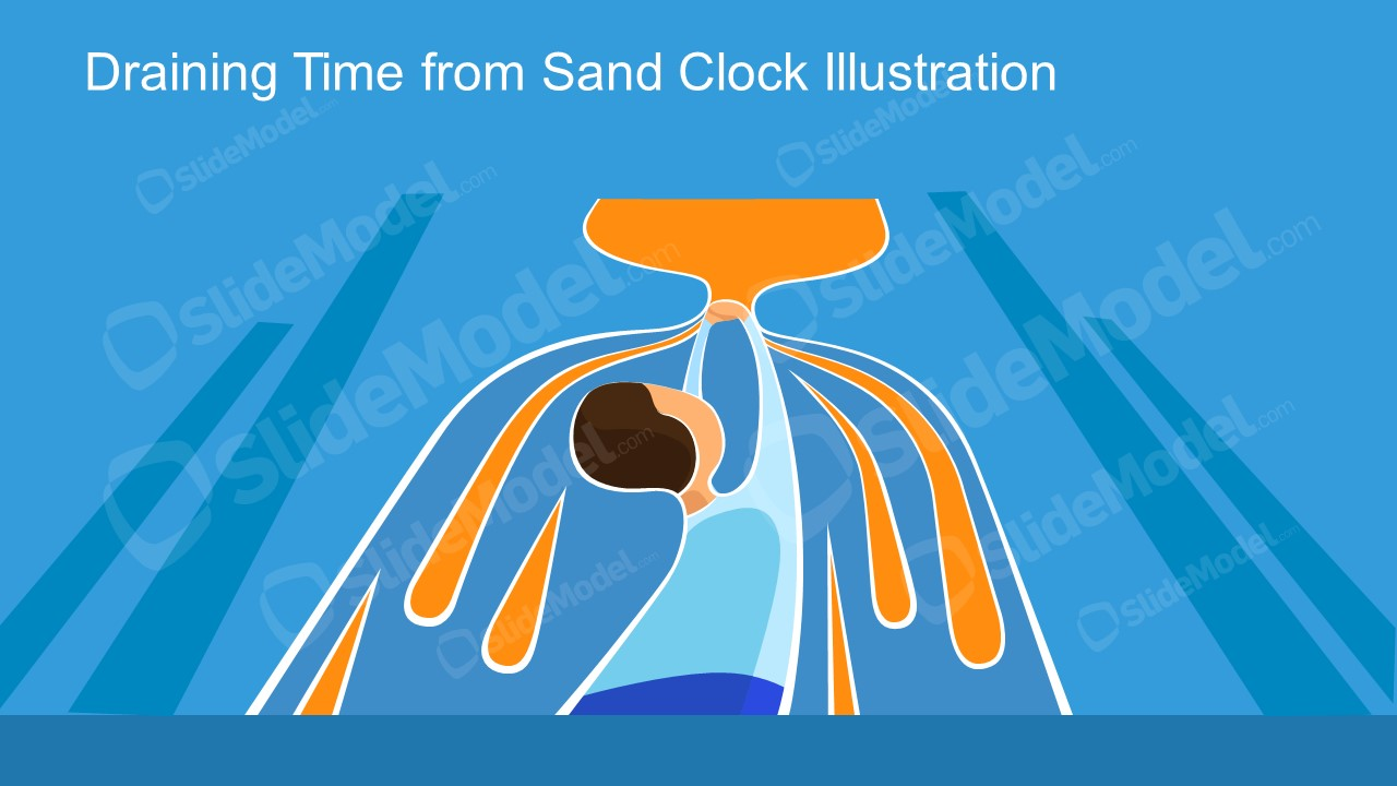 PPT Layout of Time Management Wasting Time Metaphor