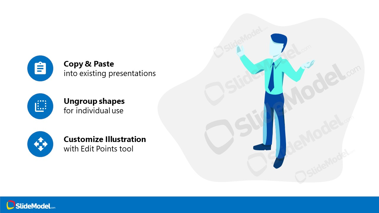 Isometric Man Illustration Scene PPT