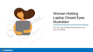 PPT Illustration of Woman Laptop Eyes Closed