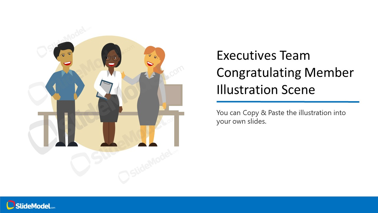 Office Environment Team Congratulation PPT
