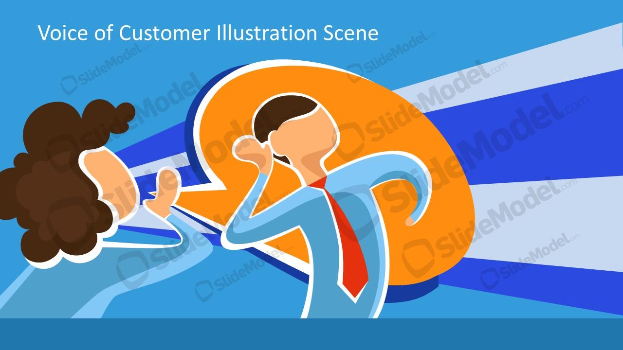 Presentation of Cartoon Illustration Vector Graphics