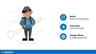 PPT Asian Student Avatar Template