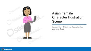 PowerPoint Asian Female with Laptop