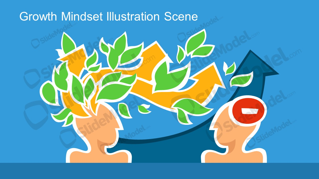 Growth Tree and Leaf Graphics Metaphor Template