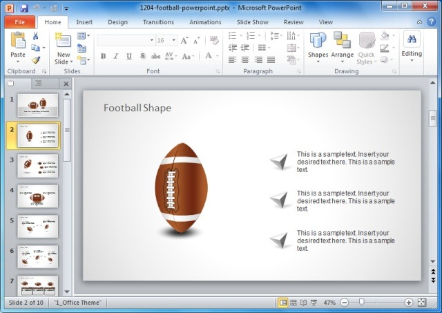 American Football Powerpoint Templateg Slidemodel