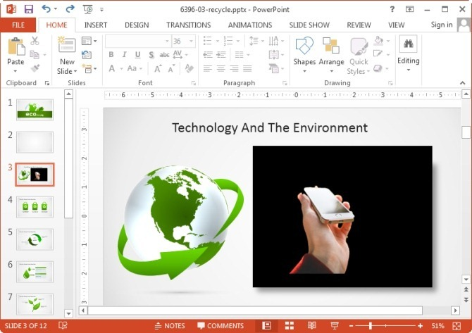 Background replaced for image using PowerPoint 2013