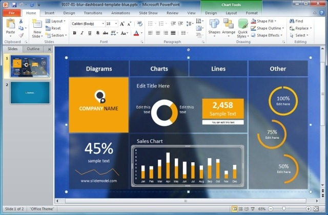 Blur Dashboard Powerpoint Template