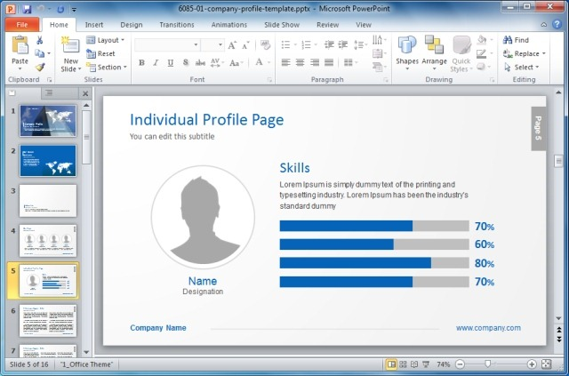 creating templates in powerpoint