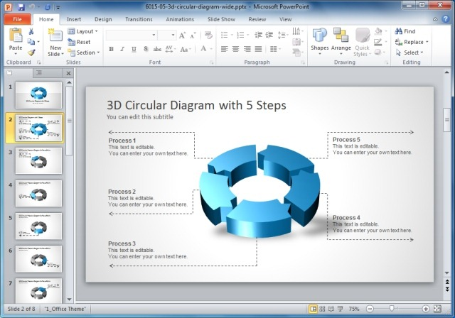 Circular Diagram Widescreen