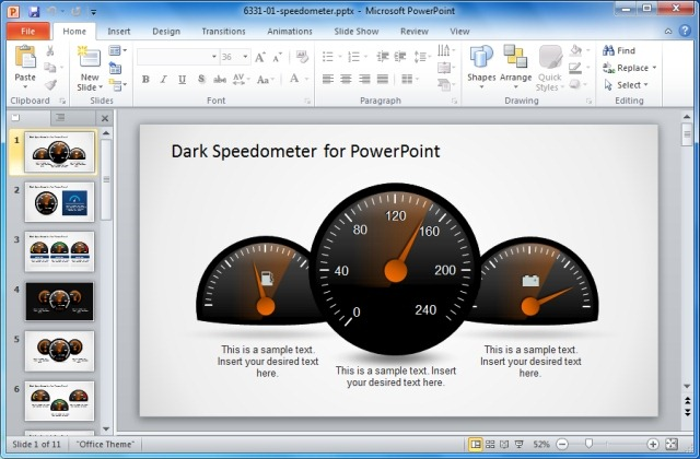 beautiful gauges and speedometer powerpoint templates for, Powerpoint templates