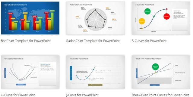 Data, Curve And Chart Templates For PowerPoint