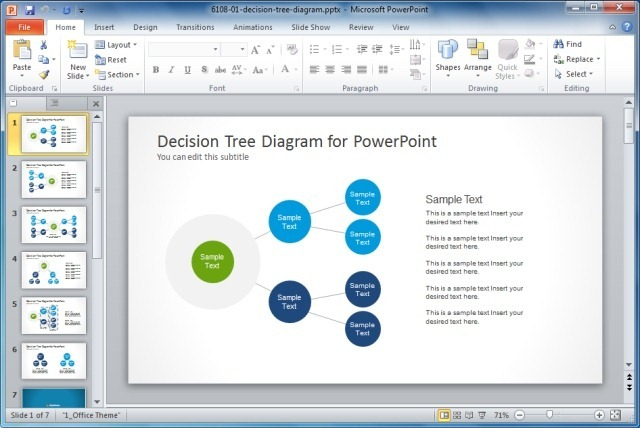 simple decision tree diagram for powerpoint