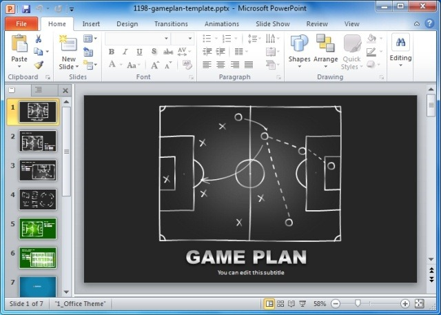 Game Plan PowerPoint Templates For Sports And Strategic Presentations - Game plan template