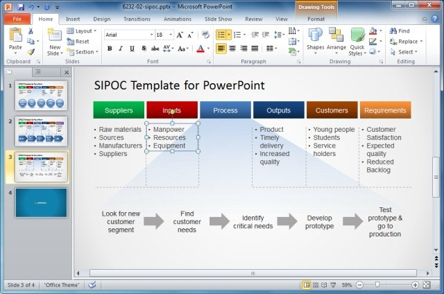 Editing The Template For Making A Custom SIPOC Diagram