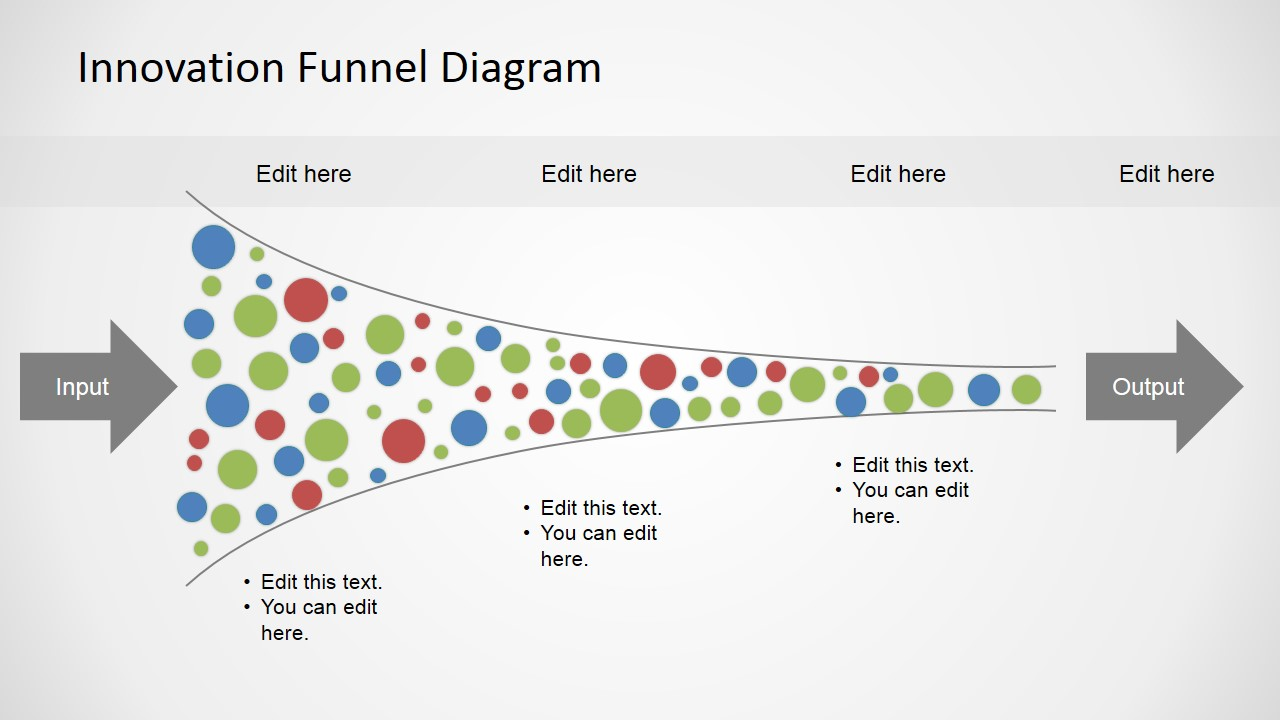free innovation funnel diagram for powerpoint - slidemodel, Modern powerpoint