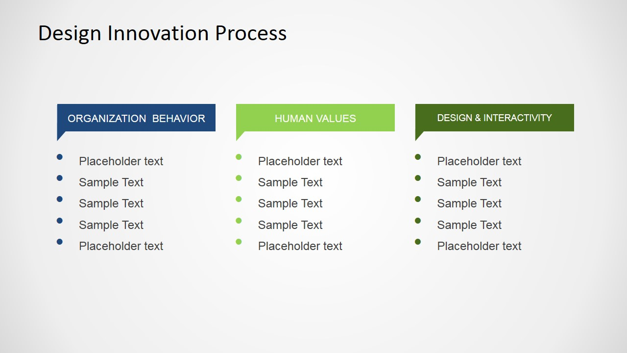 Free design innovation process for powerpoint slidemodel powerpoint slide of organization behavior values and design toneelgroepblik Images