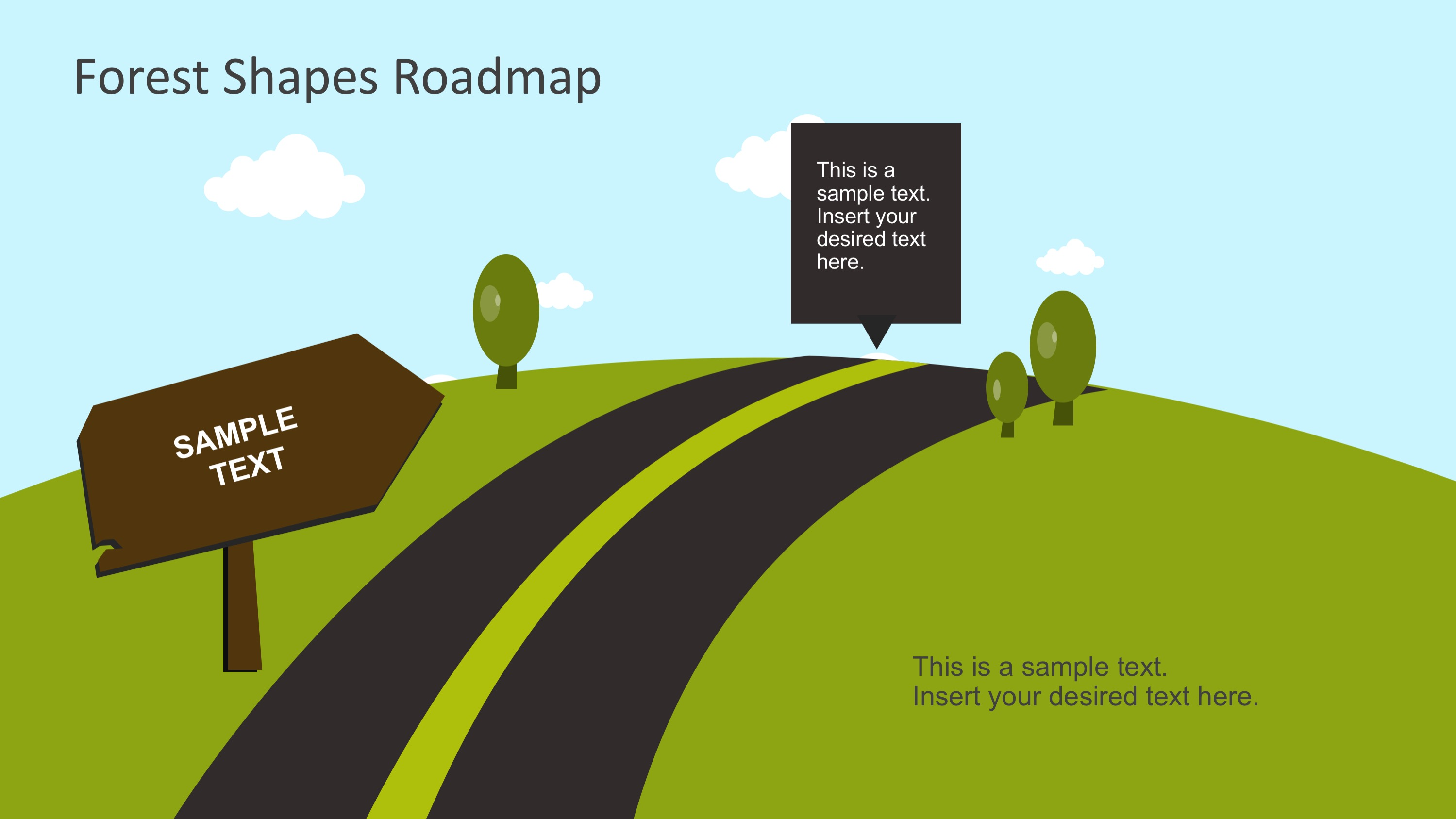 Free forest shapes roadmap powerpoint template slidemodel free ppt charitable roadmap ccuart Gallery
