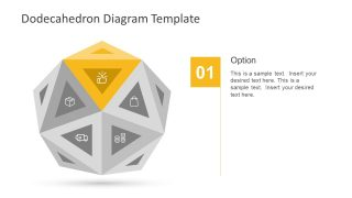 Dodecahedron Slide Template of Triangles