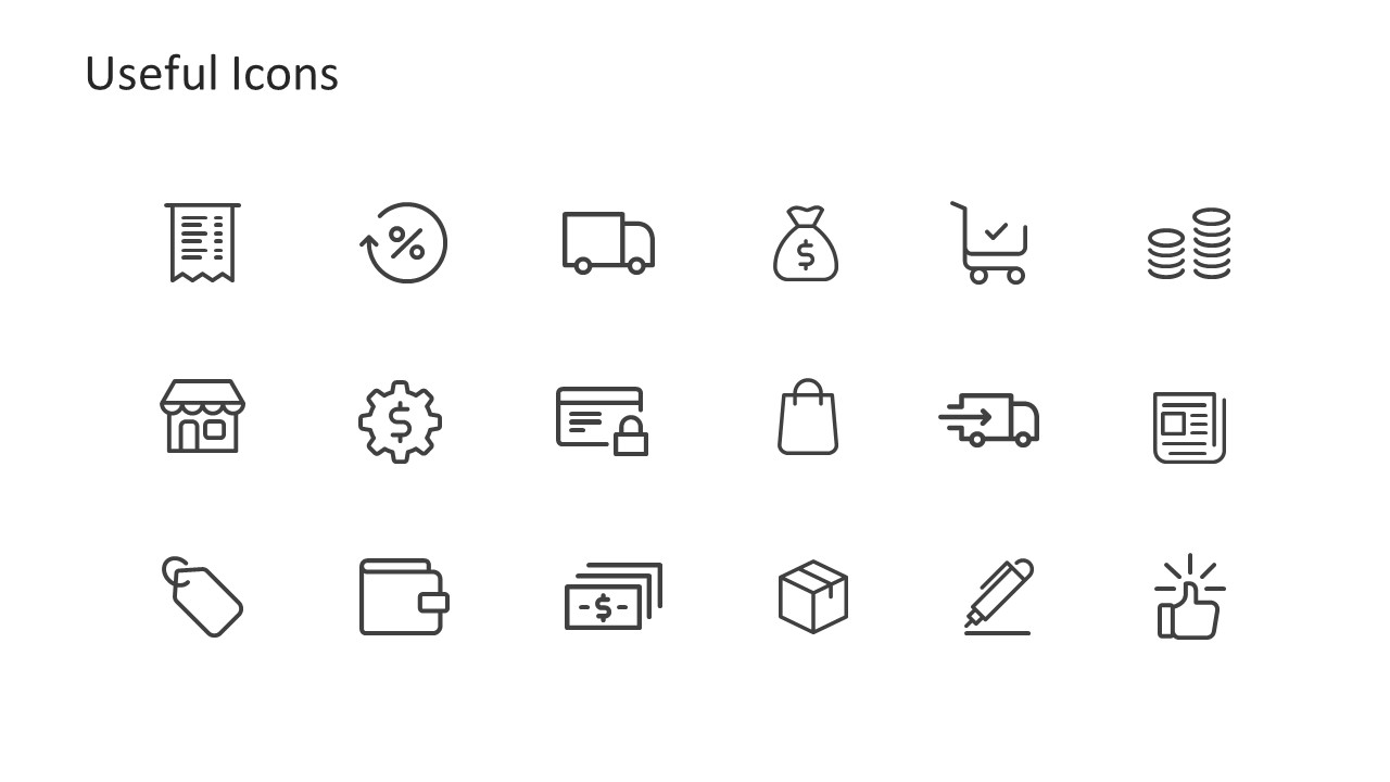 Creative Infographic Icons for Diagram Customization