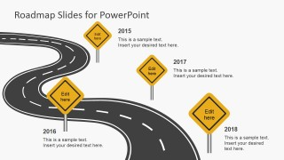 Free roadmap slides for powerpoint slidemodel free roadmap slides is a free powerpoint template containing road illustrations that you can use to represent roadmap slides in microsoft powerpoint toneelgroepblik Image collections