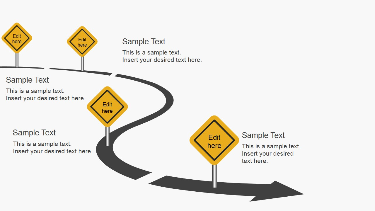 download free roadmap slides for powerpoint - Free Roadmap Template