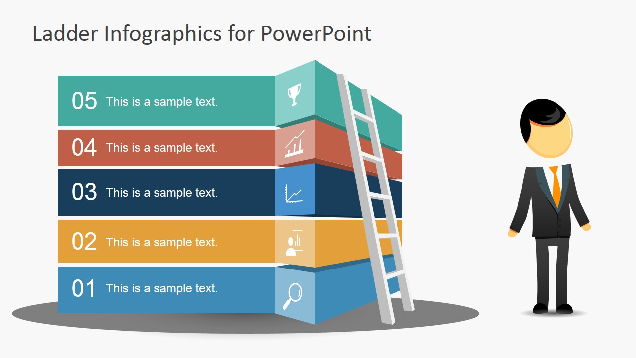 Free Ladder Infographic Slide For Powerpoint Slidemodel