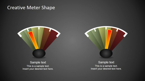 Free Creative Meter Slide Shape