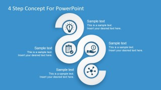 PowerPoint Free Template 4 Concept Diagram