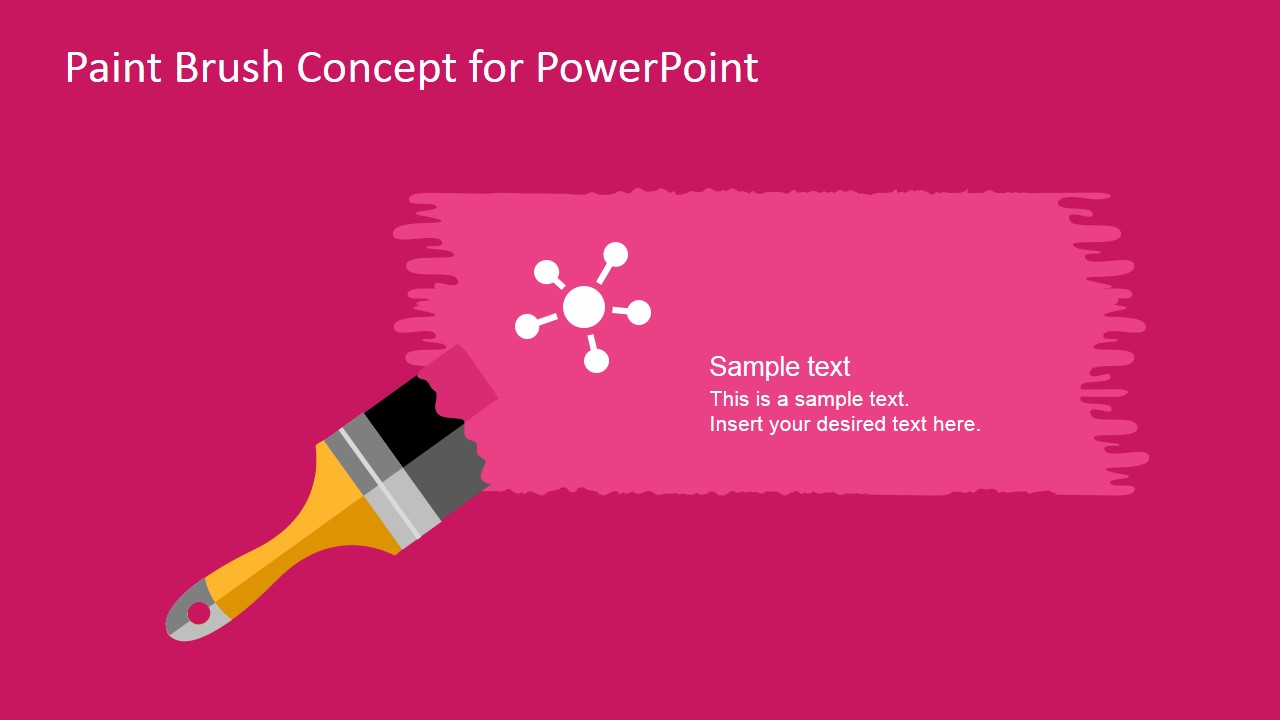 free paint brush concept powerpoint template slidemodel