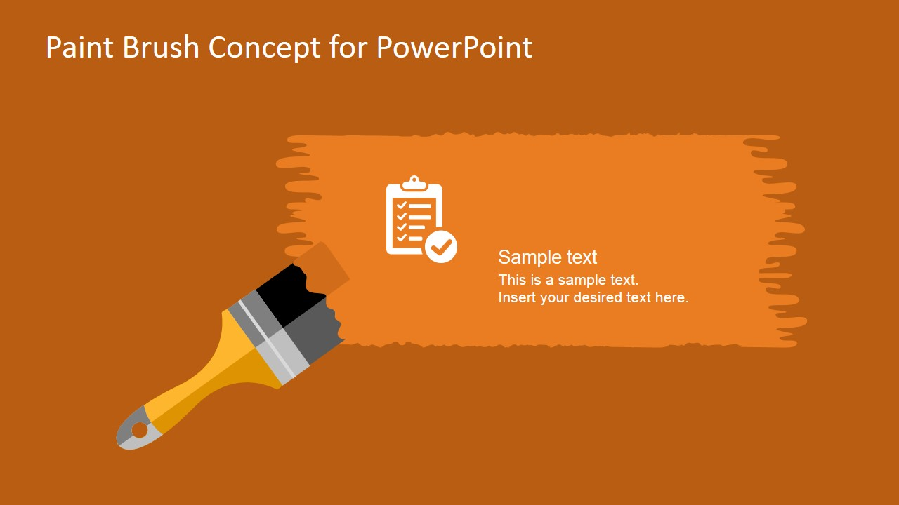 free paint brush concept powerpoint template
