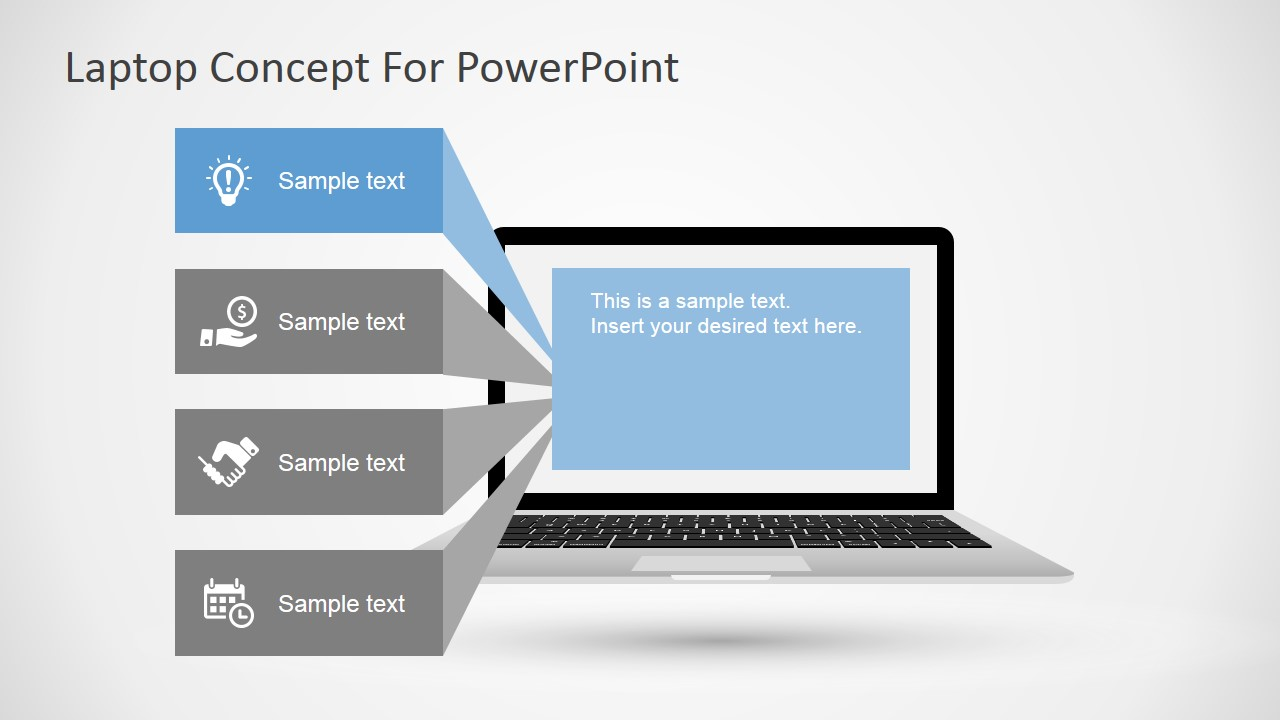 Free laptop concept for powerpoint slidemodel laptop diagram for powerpoint powerpoint template with laptop design toneelgroepblik Gallery