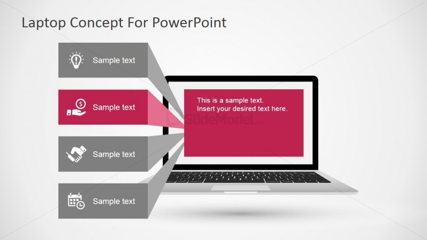 PowerPoint Diagram Featuring a Laptop
