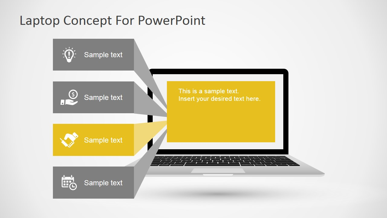 Free laptop concept for powerpoint slidemodel ppt template featuring a macbook laptop toneelgroepblik Gallery