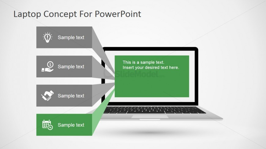 Free PPT Template Featuring a Laptop