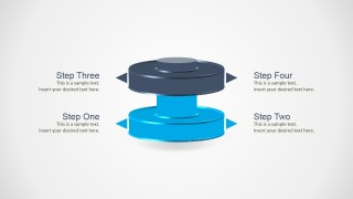 PowerPoint Template Two Levels 3D Cylinder