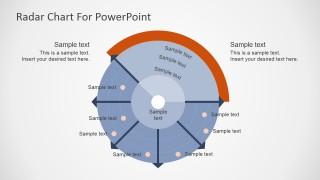 Free PowerPoint Chart Resembling a Radar