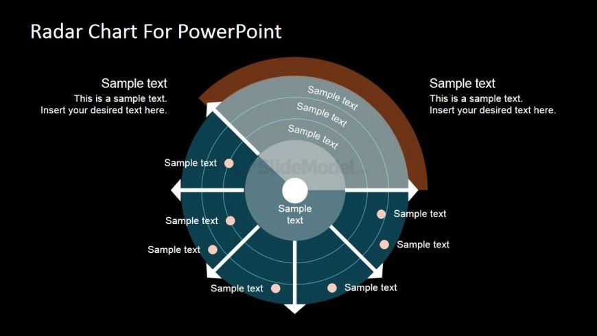 PowerPoint Free Radar Chart Dark Background
