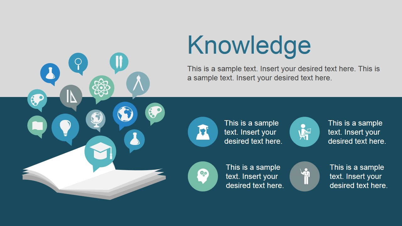 Free PowerPoint Template Icons and Knowledge Metaphor