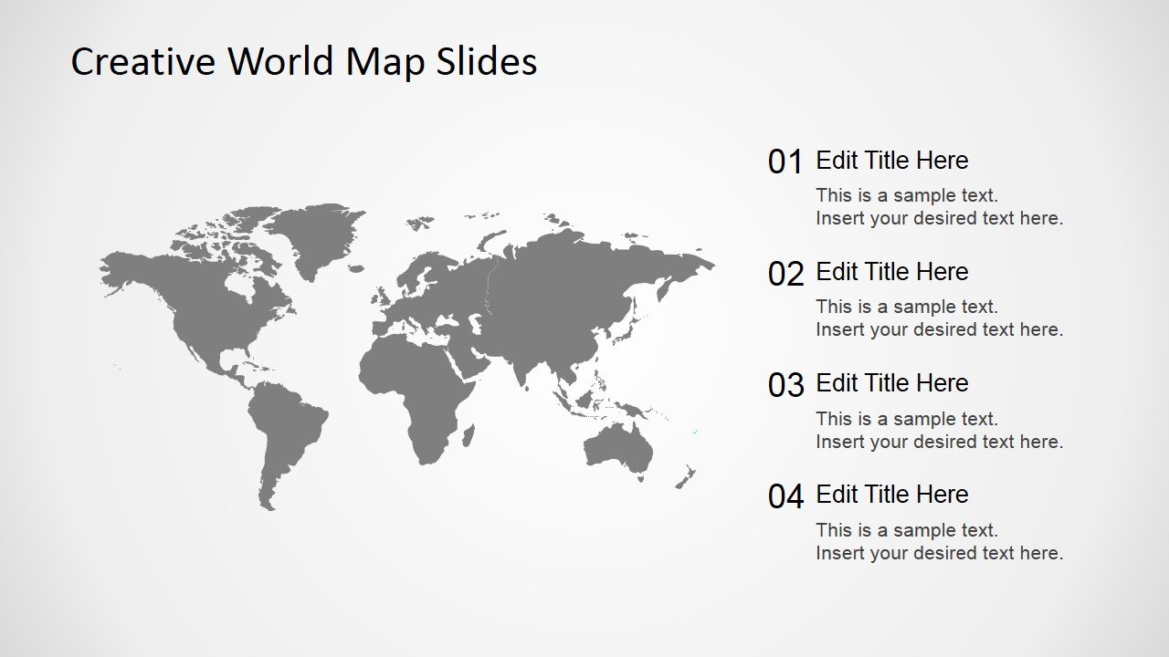 Free Creative World Map Slides For Powerpoint Slidemodel