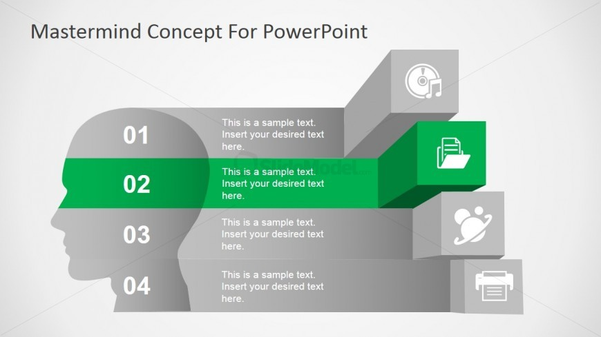 Mastermind Icons Diagram for PowerPoint
