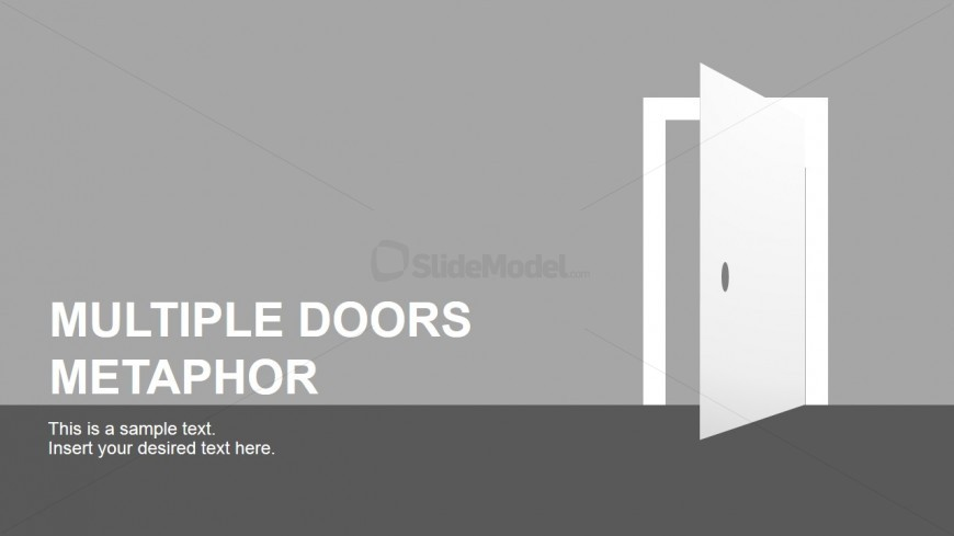 Free PowerPoint Template Doors Clipart