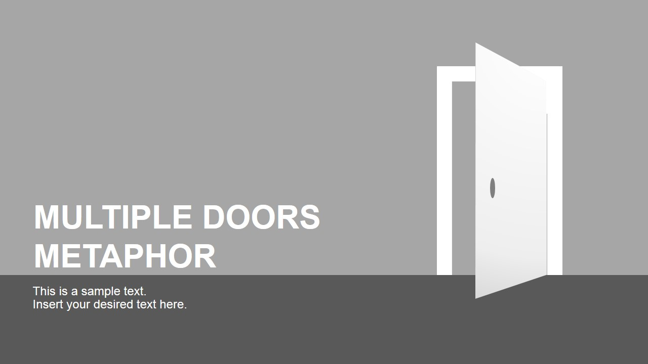 Multiple doors metaphor free powerpoint template slidemodel free powerpoint template doors clipart toneelgroepblik Image collections