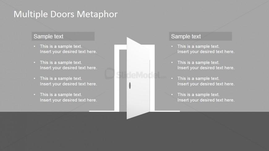 Free PowerPoint Template of Door Clipart
